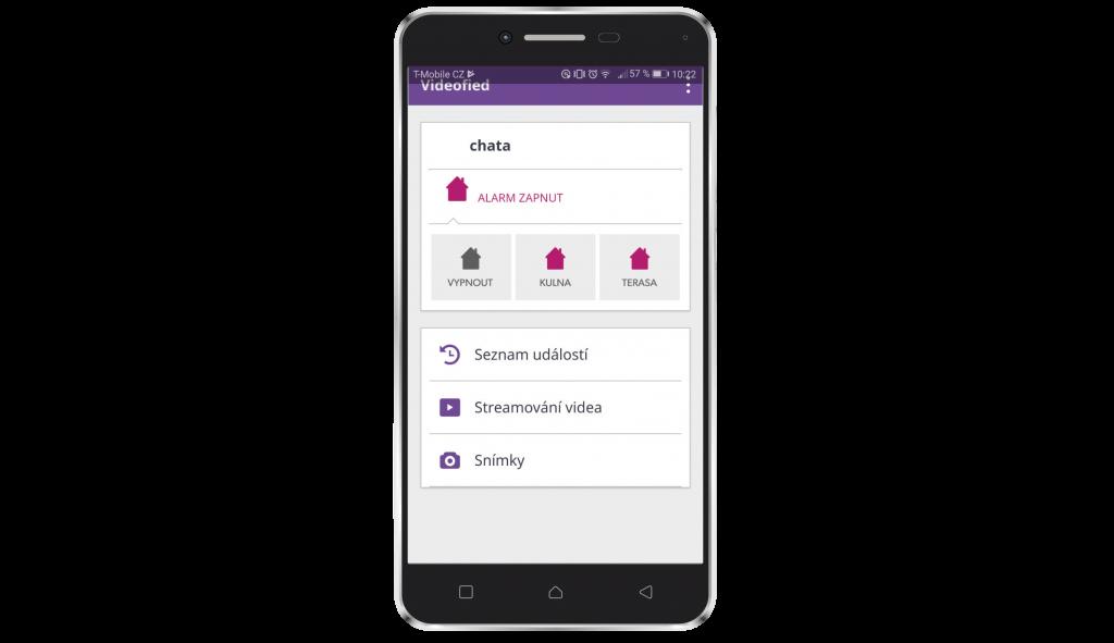 Mobilná aplikácia Videofied